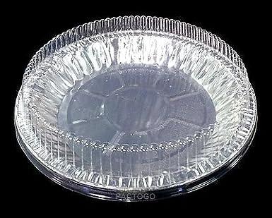 Handi-Foil 9\u0026quot; Aluminum Pie Pan Plate Tin 1\u0026quot; Deep w/Clear & Amazon.com: Handi-Foil 9\