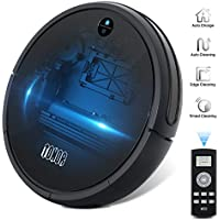 Robotic Vacuum Cleaner Sweeper, Upgraded Auto Charging/Strong Suction/Infrared Sensor/Drop Sensing RoboVac for Household Pet Fur Hepa Filter Allergens Hard Floor Rug Carpets Practical