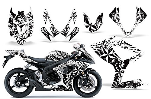 2006-2007 Suzuki GSX R600/R750 AMRRACING ATV Graphics Decal Kit-Northstar-White ()