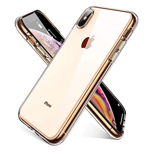 Ainope Crystal Clear iPhone Xs Max Case,[Anti-Discoloration] [Shock Absorption]Ultra Slim Thin Mobile Phone Cover Compatible with Apple iPhone Xs Max / iPhone X Max 6.5 inch 2018 (Transparent)
