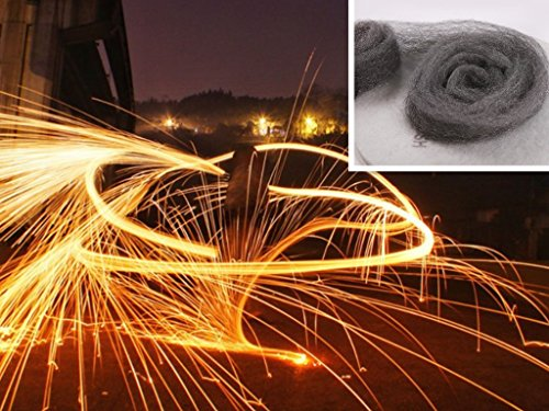 Pack of 5 roll Grade 0000 Steel Wire Wool 2.5m For Photography Special Effects Manmade Firework