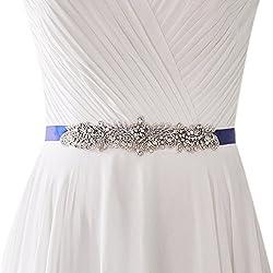Crystal Rhinestone and Pearl Bridal Sash