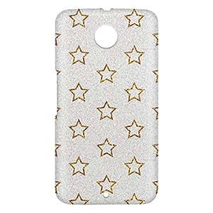 Loud Universe Motorola Nexus 6 3D Wrap Around Glitter Stars Print Cover - Silver