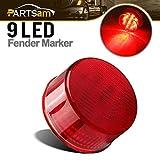 91 ranger rear cab light - Partsam Trailer Truck Red 9 LED 2