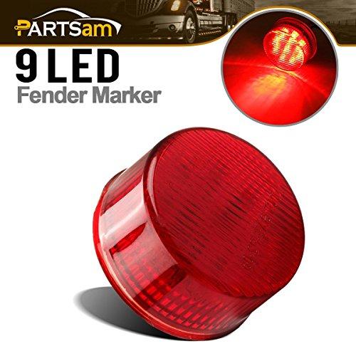 Partsam Trailer Truck Red 9 LED 2