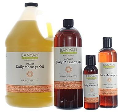 Banyan Botanicals Daily Massage Oil - Certified Organic - Balances All Three Doshas - Vata, Pitta, Kapha*