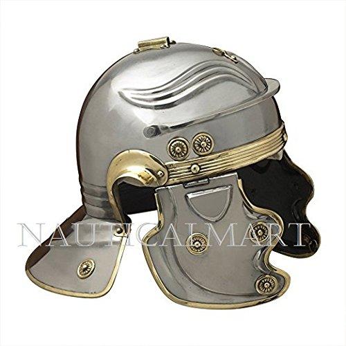 NAUTICALMART Armor Imperial Gallic 'H' Roman Helmet - One Size - Metallic (Roman Legionary Costume)