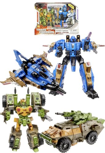 (Transformers Universe G1 Series Exclusive 2 Pack Robot Action Figure Set - Autobot Roadbuster with Voyager Class 7 Inch Tall Decepticon Dirge and Deluxe Class 5 Inch Tall Autobot Roadbuster)