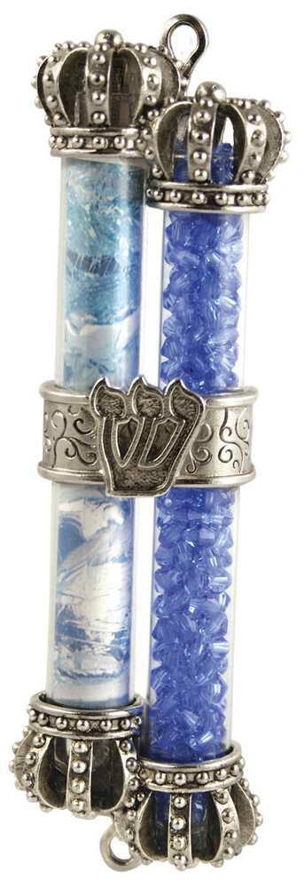 Crushed Wedding Glass Mezuzah Keepsake by Quest