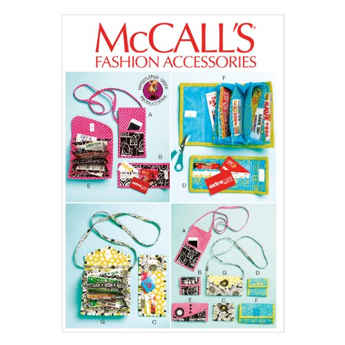 McCall Pattern Company M6768 Phone Purse, Rewards Card Wallets and Coupon Clutches Sewing Template, One Size Only ()