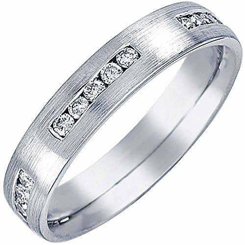 0.25ct TDW White Diamonds Platinum 4 stone Women's Wedding Band (G-H, SI1-SI2) (4mm) Size-7c2 (4mm Platinum Ring Channel Diamond)