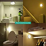 ORIA Motion Sensor Light, LED Night Light, Stick-Anywhere Wall Light, Closet Lights Stair Lights, Safe Lights with Magnetic Strip, for Bathroom, Bedroom, Lockers, Kitchen (Warm White, 3 Pack)