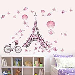 Wall Sticker, Hatop New Butterfly Flower Fairy stickers Bedroom Living Room Walls (A)