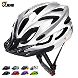 JBM Adult Cycling Bike Helmet Specialized for Mens Womens Safety Protection Red / Blue / Yellow (Silver, Adult)