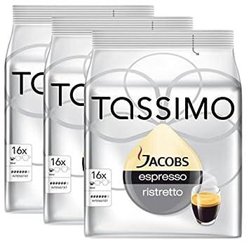 Bosch Tassimo - Cápsulas para Máquinas de Café Jacobs Espresso Ristretto 16 T (