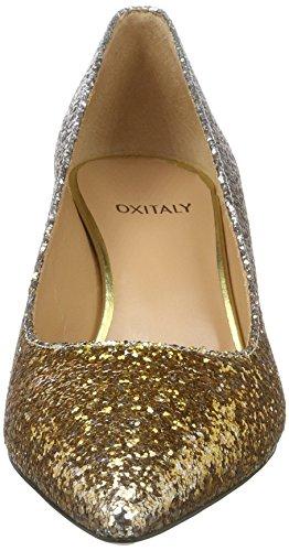 Oxitaly Sara 100, Scarpe Col Tacco Donna Gold (Oro)