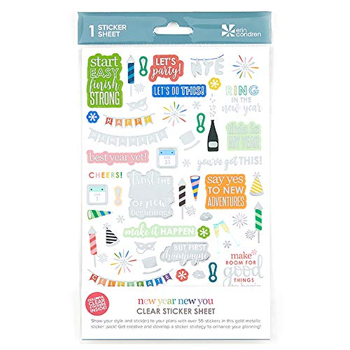 Erin Condren New Year New You Sticker Sheet