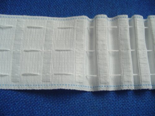 3 inch Woven Pocket Pencil Pleat Heading Tape 1 metre length