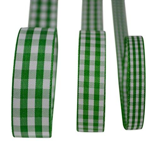 Ribbon Bazaar Taffeta Gingham Check 1-1/2 inch Green 25 Yards Ribbon