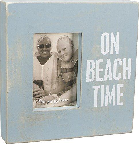 On Beach Time - Weathered Beach Box Photo Frame 10-in Aqu...