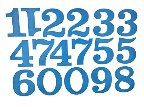 - PP Stickers 1 Sheet Blue 0-9 Number Decal Vinyl Sticker Car Boat Helmet Laptop Rack Label Address Mailbox