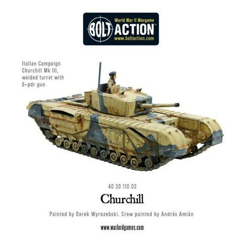 Bolt Action Churchill Infantry Tank 1:56 WWII Military Wargaming Plastic Model Kit