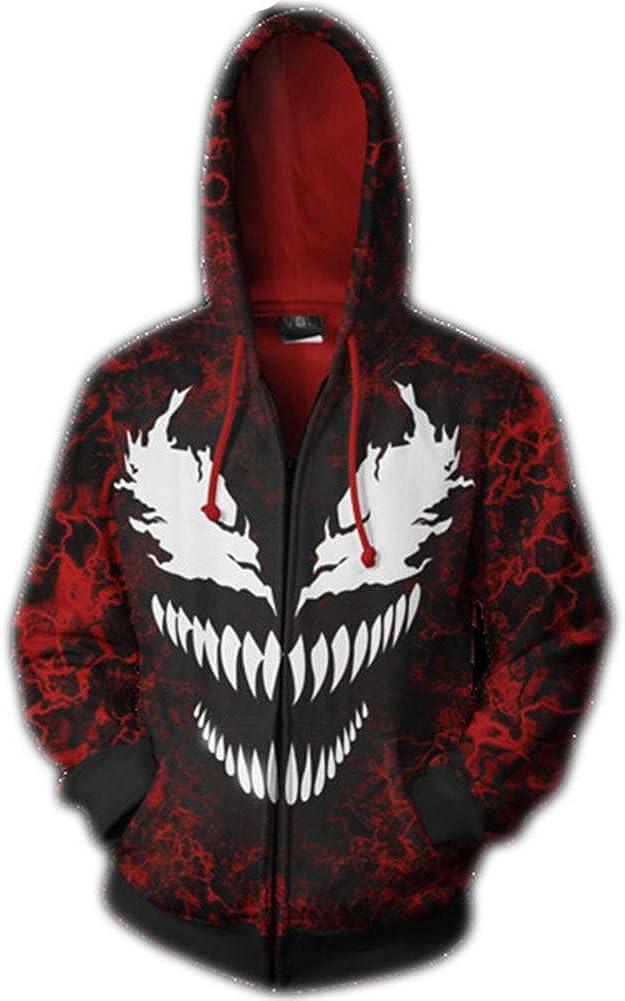 SgaSong Venom Costume,Unisex 3D Printed Spiderman Venom Fashion Hoodies Sweatshirt