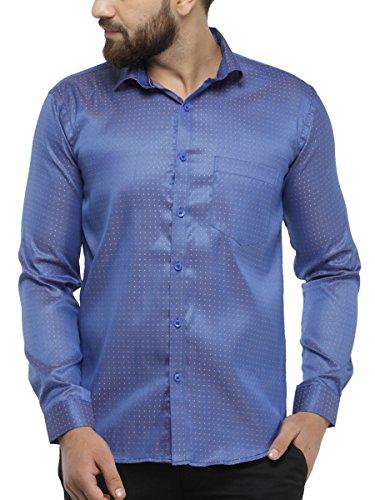 BEING FAB Polka Print Casual Blue Shirt
