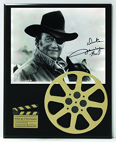 "John Wayne Limited Edition Reproduction Autographed Movie Reel Display ""K1"""