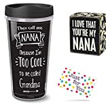 Nana Travel Mug and Love That You're My Nana Box Sign with Gift Tag by J4U