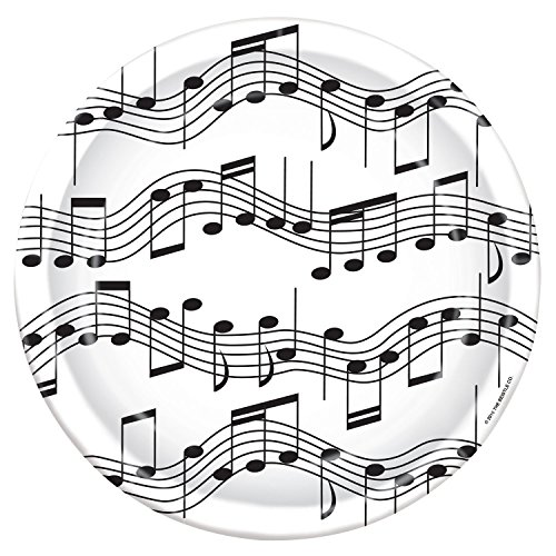 Music Note Birthday Party Dinner (Music Note Plates)
