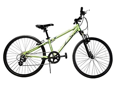 """Ryda Bikes Tahoe - 24"""" Green Youth Unisex Mountain Bike - 8 Speed All Purpose Bicycle for Kids and Teens with Flat Proof Tires"""