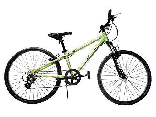 "Ryda Bikes Tahoe - 24"" Green Youth Unisex Bike - 8 Speed All Purpose Bicycle for Kids and Teens with Airless Bike Tires"