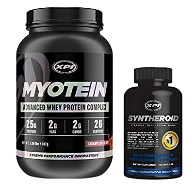 Bodybuilding Supplements Top Sellers Kit - XPI Myotein (Chocolate) & Syntheroid (Protein Powder & Testosterone Supplement)