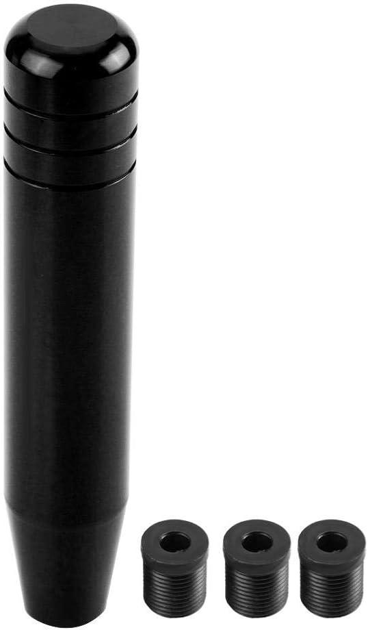 Aluminum Gear Shift Knob Auto Gear Shift Knob,Universal Alloy Car Manual Gear Shift Knob Handle Shifter Lever 18cm Black