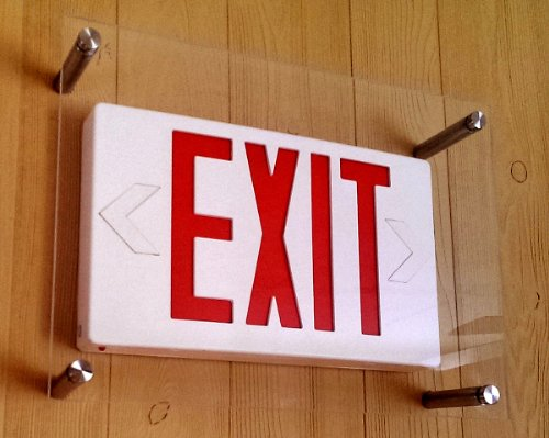 Exit Sign Protection Cover Guard From Sports Damage Vandalism