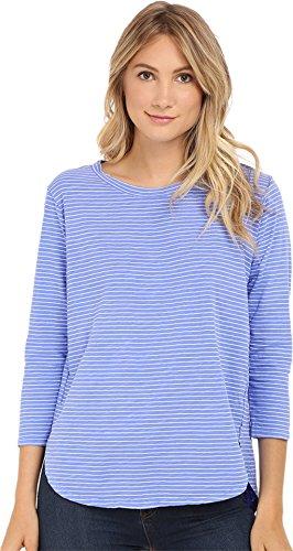 Ladies Pinstripe - Fresh Produce Women's Pinstripe Catalina Top Peri Blue T-Shirt XL