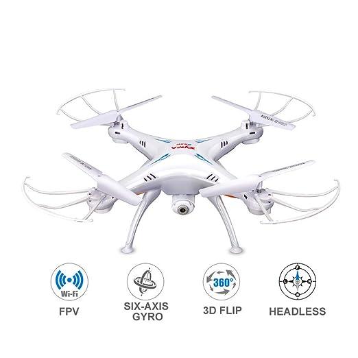 QUARKJK Drone con cámara WiFi Transmisión en Tiempo Real FPV HD ...