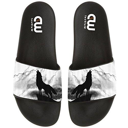 Silhouette Shoes Sandal Men Howl Wolf Thunderstorm Slide Girl Beach Women Outdoor For Summer Boy Slipper Women 4HdTxd