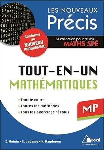 Livres gratuits en ligne Maths MP - Conforme au programme 2014 - Précis tout-en-un - Cours - Méthode - Exercices pdf