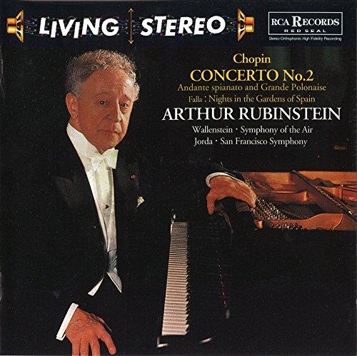 アルトゥール・ルービンシュタイン(ピアノ) 他 / フレデリック・ショパン:ピアノ協奏曲第2番、アンダンテ・スピアナートと華麗なるポロネーズ(1958年録音)