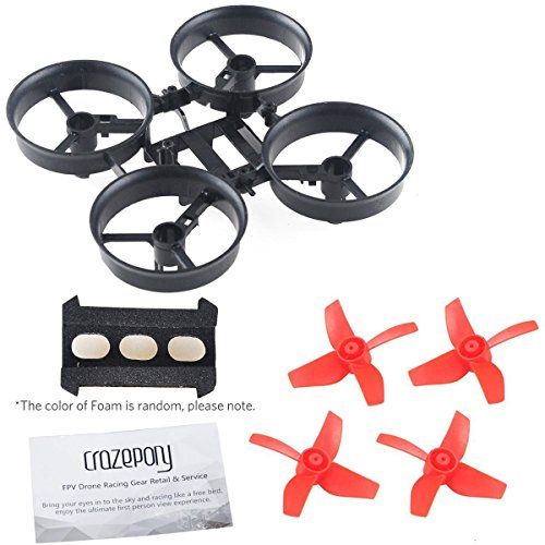 Price comparison product image Crazepony 4pcs Propellers Red and Tiny Whoop Eachine E010 RC Quadcopter Frame