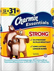 Amazon.com: Charmin Essentials Strong Toilet Paper, Bath
