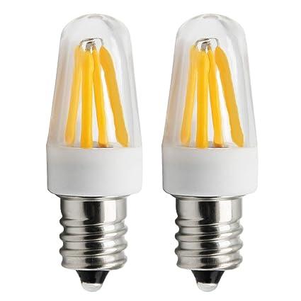 1819®E12 Bombilla LED 4 x Filamento 2W Bajo Consumo Lámpara blanco fresco 3000K AC