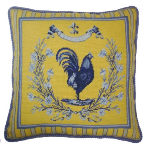 - Deluxe Pillows Framed Rooster - 19 x 19 in. needlepoint pillow
