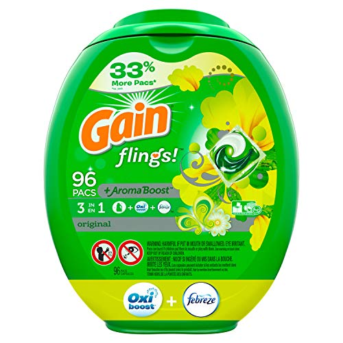 Gain flings Laundry Detergent Pacs Plus Aroma Boost 96-Count Only $16.08