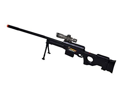 Untold Gel Bullet Sniper Gun (Black) with Rechargeable Battery + Extra 1650  Bullets Free