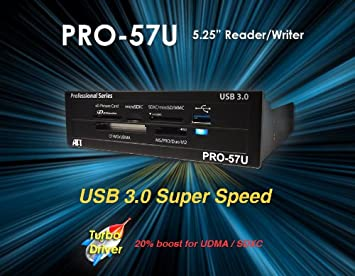 Atech Flash Pro-57U USB 3.0 True SuperSpeed Internal Flash Memory Card Reader w/