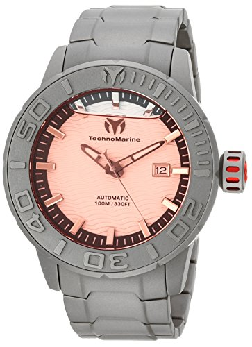 (Technomarine Men's 'Reef' Automatic Titanium Casual Watch, Color:Gray (Model: TM-516003))