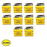 3.6V 700mAh 900mAh NiCad Exit Sign Battery Emergency Lighting (10 Pack) Lowes 253799 and Lowes OSA230 Unitech 6200RP Unitech AA900MAH Unitech LEDR-1